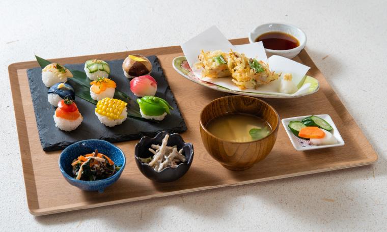 野菜寿司定食